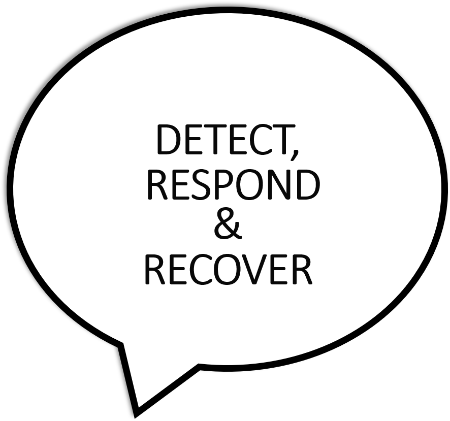 detect, respond, recover written