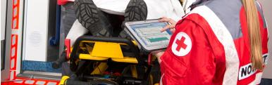 A TOUGHBOOK G1 being used by an ambulance worker