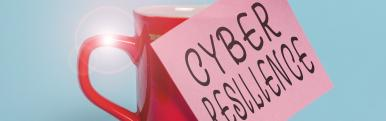 red cup with post it cyber resilience