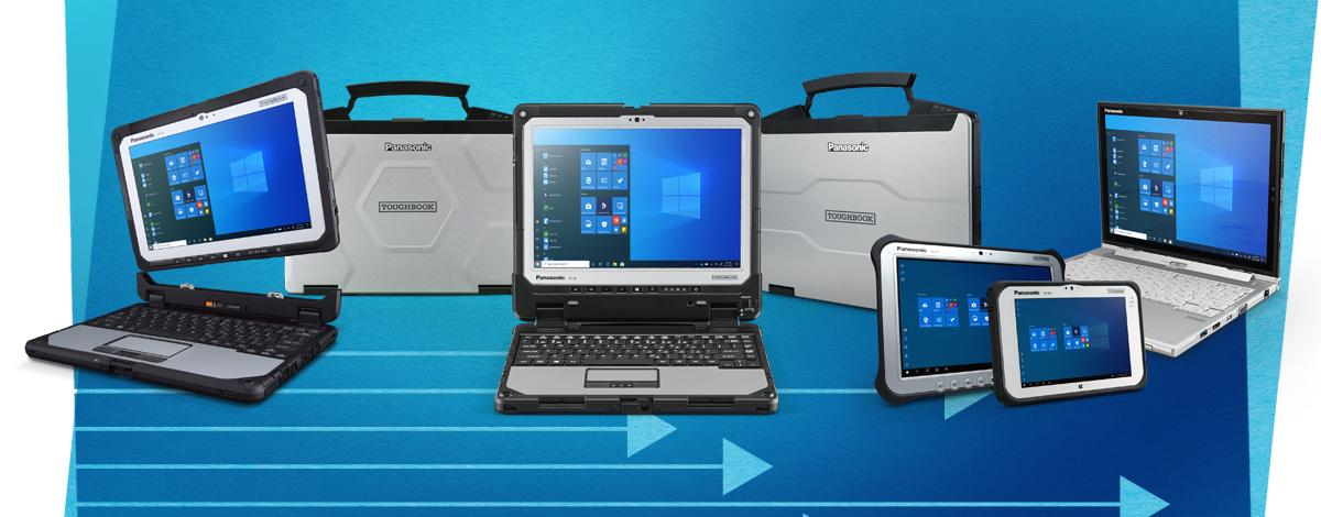 Range of Panasonic TOUGHBOOK Windows 10 devices