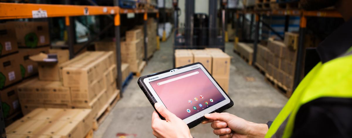 TOUGHBOOK A3 in logistic area